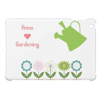 Flowers and Watering Can Gardening Fun iPad Mini Case