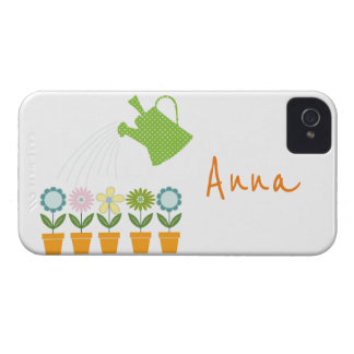 Flowers and Watering Can Gardening Fun iPhone 4 Case