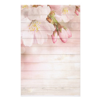 Flowers and Wood Stationery