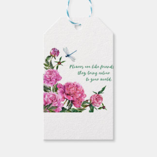 Flowers are like friends.JPG Gift Tags