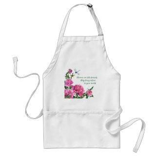 Flowers are like friends.JPG Standard Apron
