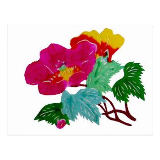 Flowers Asia Postcard