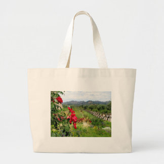 Flowers at Castello di Amorosa Large Tote Bag