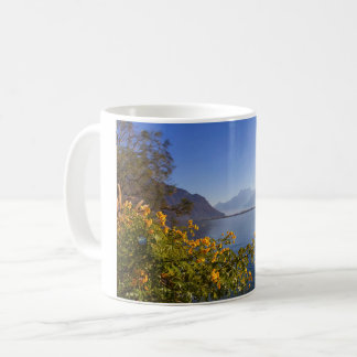 Flowers at Geneva lake, Montreux, Switzerland Coffee Mug