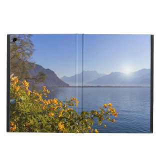 Flowers at Geneva lake, Montreux, Switzerland Cover For iPad Air