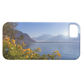 Flowers at Geneva lake, Montreux, Switzerland iPhone 5 Cases