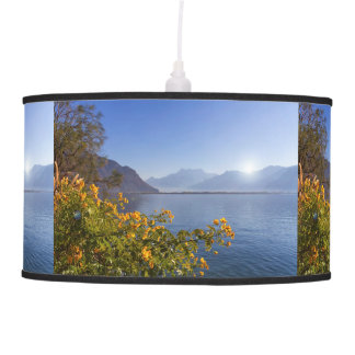 Flowers at Geneva lake, Montreux, Switzerland Pendant Lamp