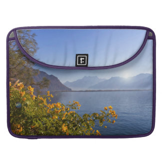 Flowers at Geneva lake, Montreux, Switzerland Sleeve For MacBooks