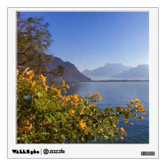 Flowers at Geneva lake, Montreux, Switzerland Wall Sticker