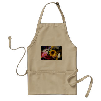 Flowers at the farmers market standard apron