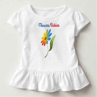 Flowers Babies Toddler Ruffle Tee