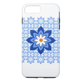 Flowers Batik Blue iPhone 7 Plus Case