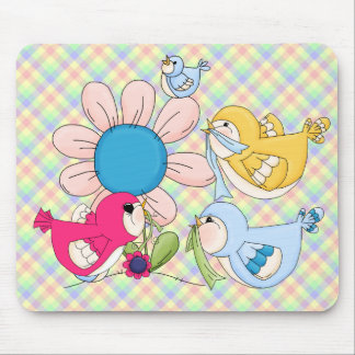 Flowers Birds All Products Kids Stuff Mouse Pad