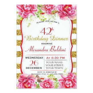 FLOWERS  BIRTHDAY PARTY INVITATION