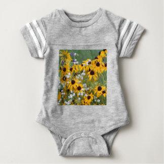Flowers Black eyed susan's Baby Bodysuit