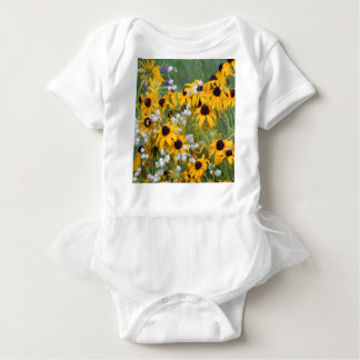 Flowers Black eyed susan's Baby Bodysuit