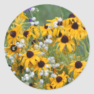 Flowers Black eyed susan's Classic Round Sticker