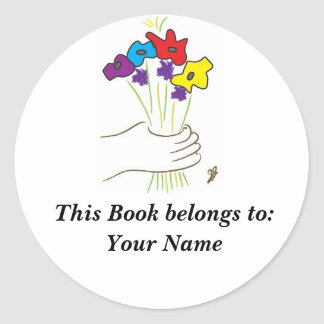 Flowers, Book Label
