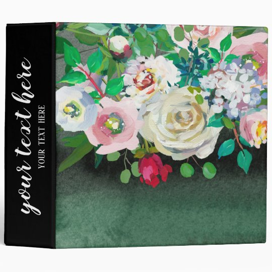 Flowers Bouquet 3 Ring Binder