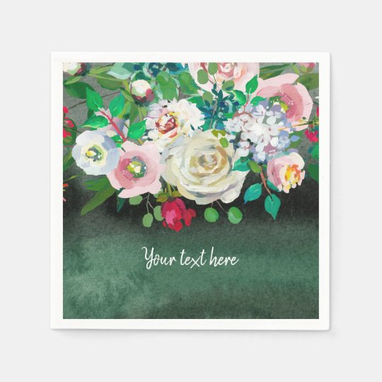 Flowers bouquet for all occassions paper napkin