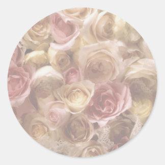 Flowers Bouquet Wedding Invitations Envelope Seals Round Sticker