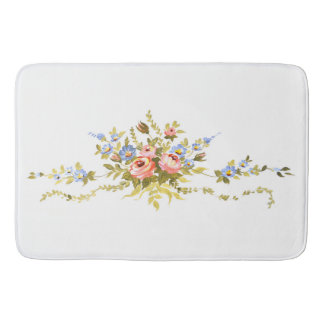 flowers brush rococo painting romantic elegant vin bath mat