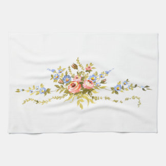 flowers brush rococo painting romantic elegant vin kitchen towel