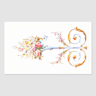 flowers brush rococo painting romantic elegant vin sticker