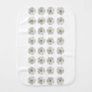 flowers burp cloth