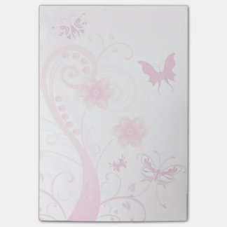 Flowers, Butterflies and Swirls Post-it® Notes