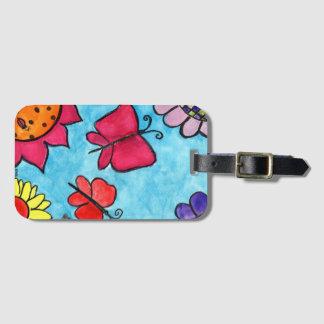 Flowers & Butterflies Bag Tag