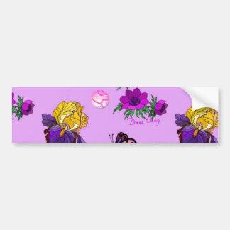 Flowers & Butterflies - Birds & Stars Bumper Sticker