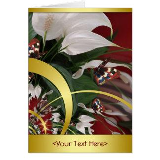 Flowers & Butterflies Card