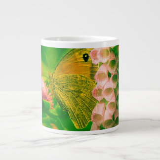 Flowers & Butterfly Large Coffee Mug