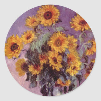 Flowers by Claude Monet Sticker