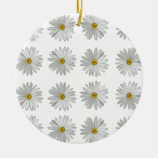 flowers ceramic ornament