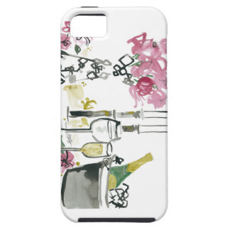 Flowers & Champagne by Denise Elnajjar iPhone 5 Cover