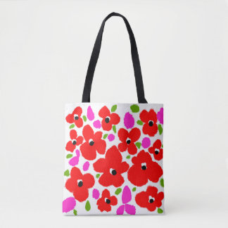 Flowers Collection Custom All-Over-Print Tote Bag