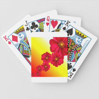 Flowers Colorful Pattern Spring Garden Dahlia Art Bicycle Playing Cards