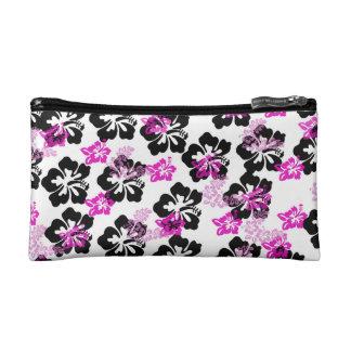 Flowers Cream Makeup Bag