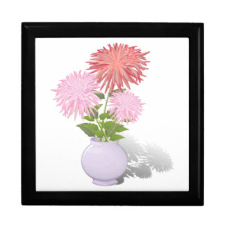 Flowers Dahlias in a vase Gift Box