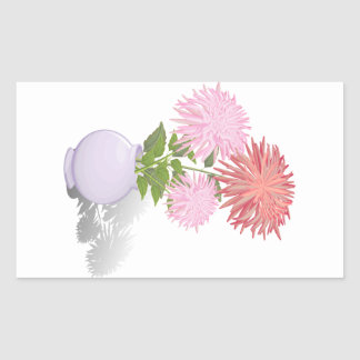 Flowers Dahlias in a vase Sticker