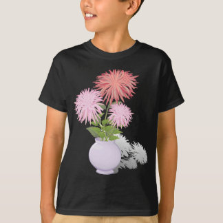 Flowers Dahlias in a vase T-Shirt