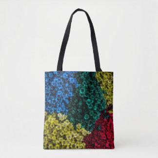 FLOWERS DESIGN TOTE BAG