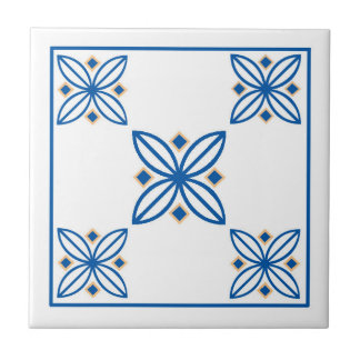 flowers & diamonds in a traditional tile design