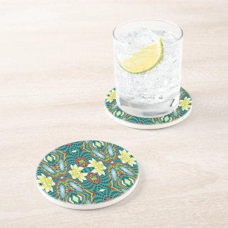 Flowers, Drinking Coaster - Design Flowers Swirl