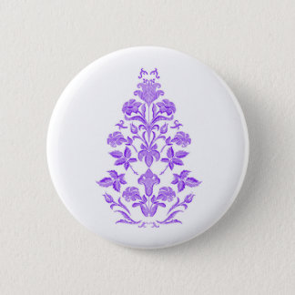 Flowers embroidery 2 inch round button