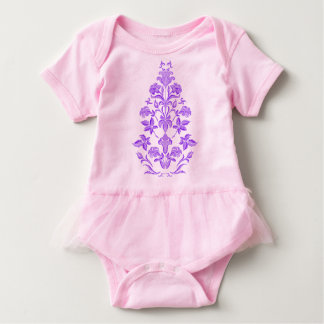 Flowers embroidery baby bodysuit