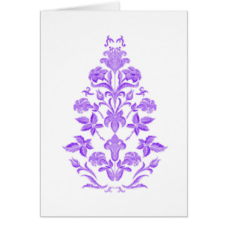 Flowers embroidery card