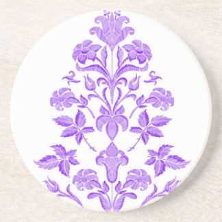 Flowers embroidery coaster